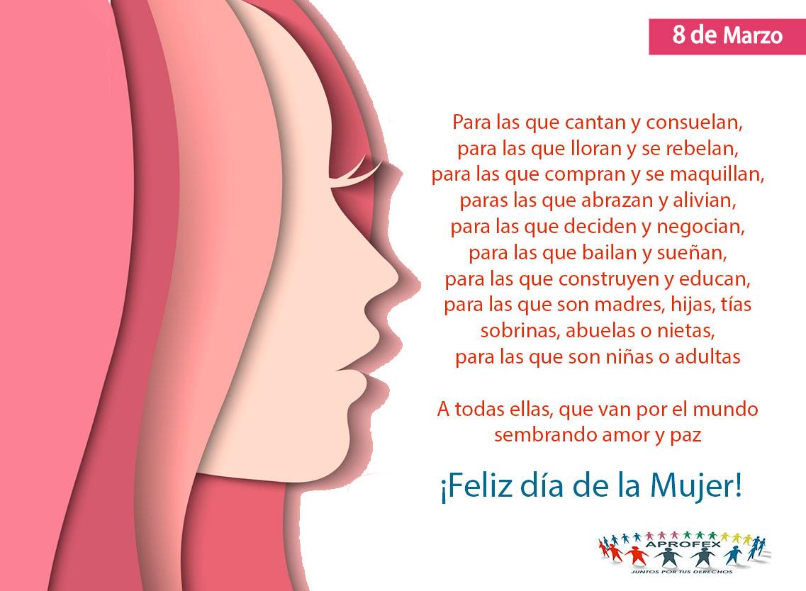 Saludo Aprofex en el Día Internacional de la Mujer – APROFEX