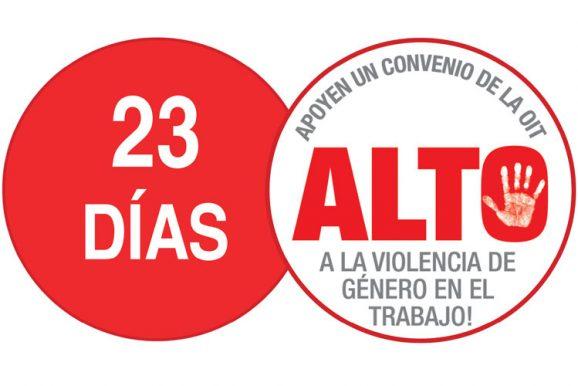 ¡Súmate a los 23 días de acción para PONER FIN a la violencia de género en el trabajo!