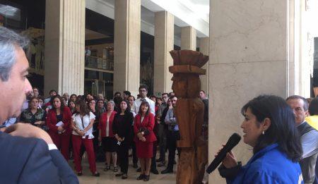 Asociaciones del MINREL protestan para exigir cumplimiento de acuerdos en Modernización de la Cancillería
