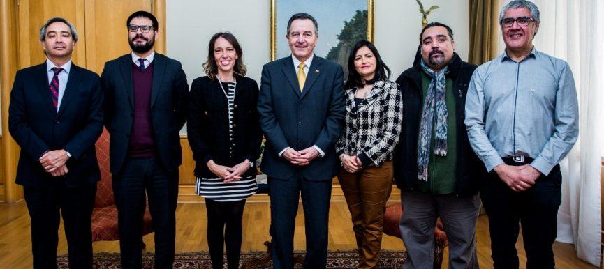 Canciller y subsecretaria sostuvieron reunión con Mesa Gremial del Minrel