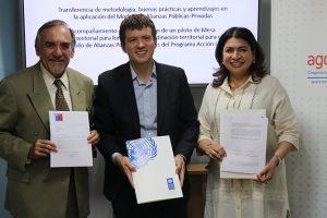 AGCID y FOSIS firman acuerdo con PNUD para el Desarrollo Sostenible